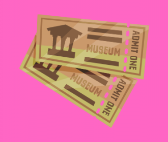 museum passes illustration