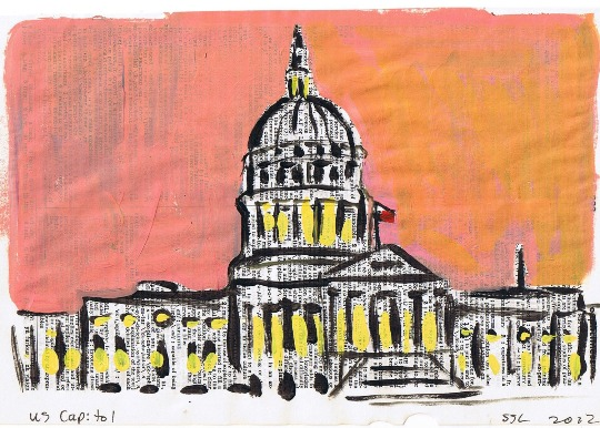 Collage artwork of the Capitol Building in DC