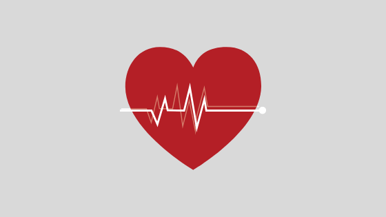 heart with ekg patterns