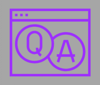 illustration with letters q and a