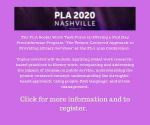 ad for swtf preconference at pla 2020