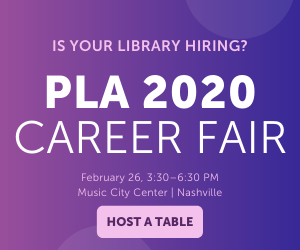 PLA 2020 Career Fair Ad - Reserve a Table