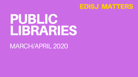 Public Libraries march/april 2020 EDISJ Matters Column Head