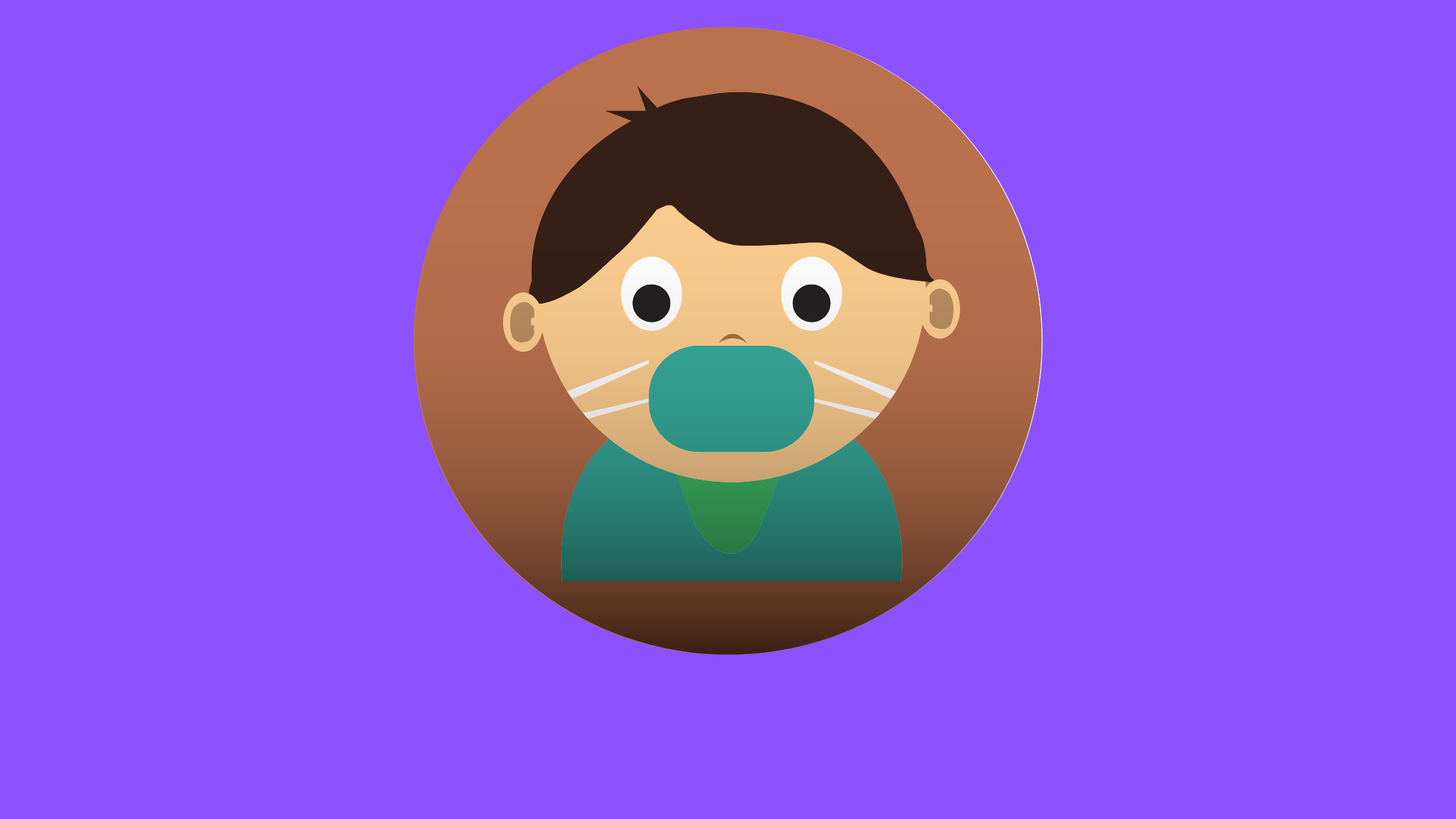 illustration of a kid with a mask on