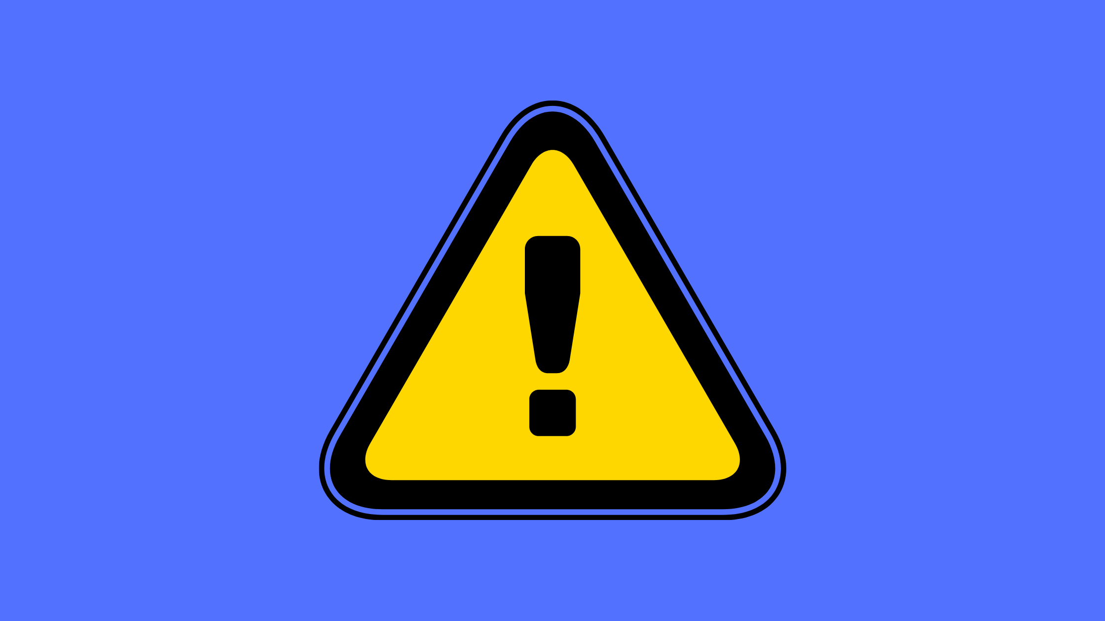 Hazard Sign Yellow Triangle with Black Exclamation Mark
