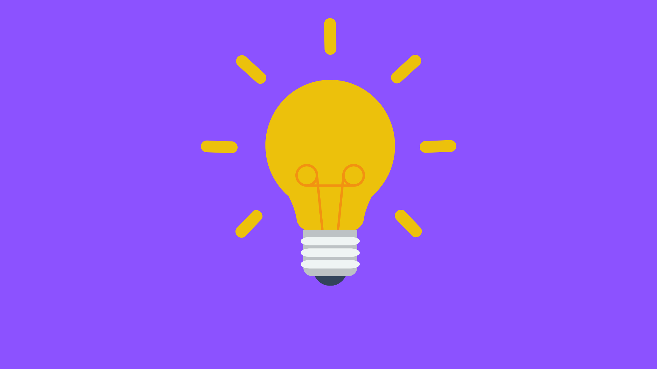 Illustration of a bright yellow light bulb