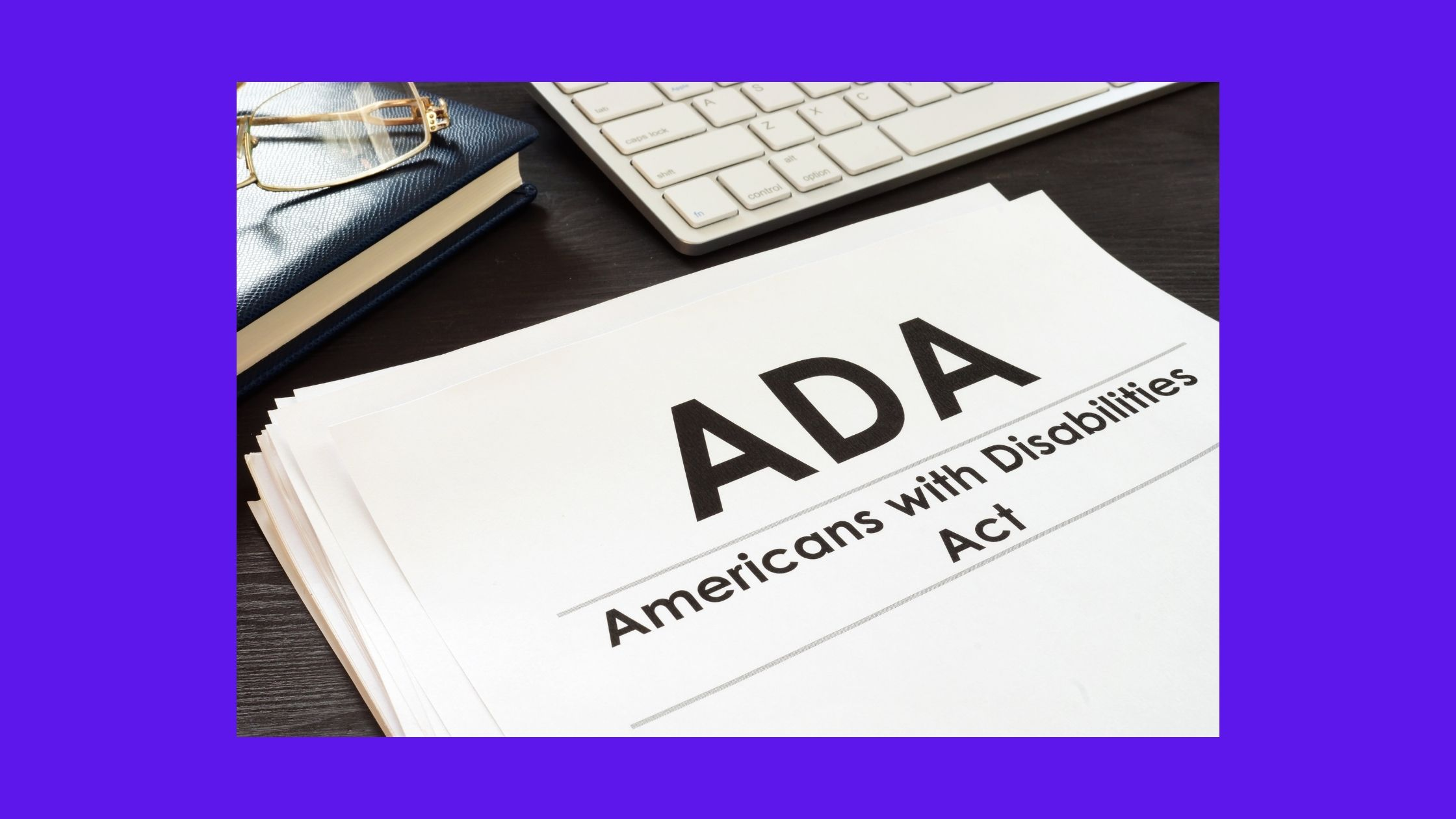 booklet with title ADA Americans with Disabilities Act