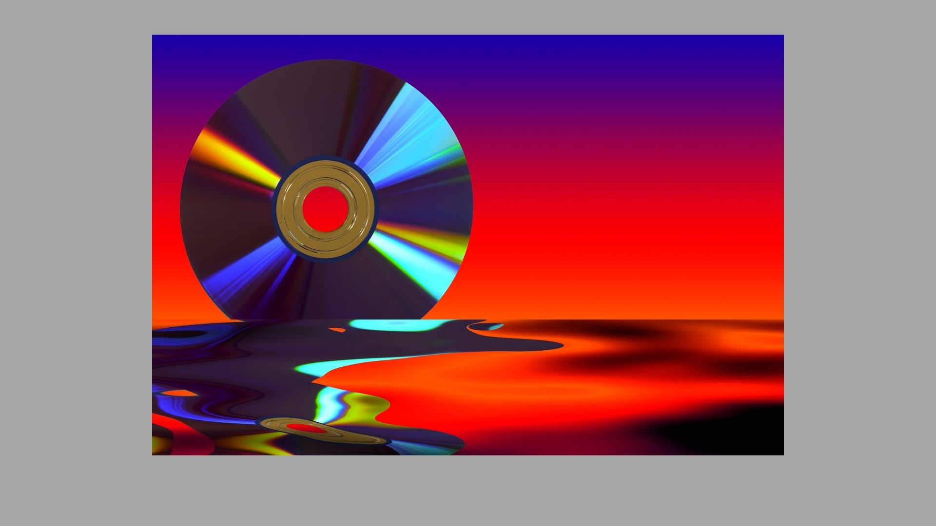 Photo of a DVD on a reddish background