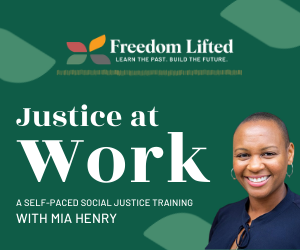 Ad for organization Freedom Lifted - Justice at Work